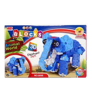 Конструктор 3D, Слон, деталей 289 шт.