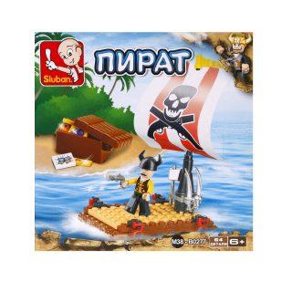 Констр-р серии Пират, Пиратский плот, 64 дет. СОБРАН