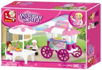 Констр-р серии Розовая мечта, Кафе на колесах, 78 дет.