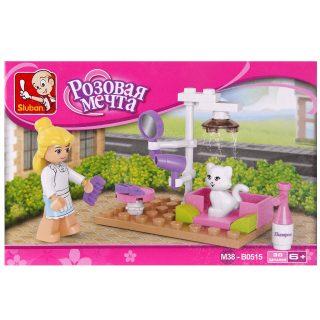 Констр-р серии Розовая мечта, Салон красоты для дом.животных, 30 дет.