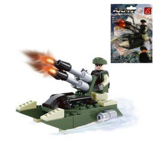 Конструктор серии Армия, Военный катер, 50 дет.,пакет
