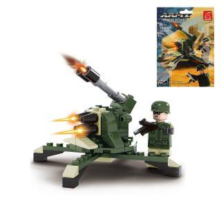 Конструктор серии Армия, Зенитка, 64 дет., пакет