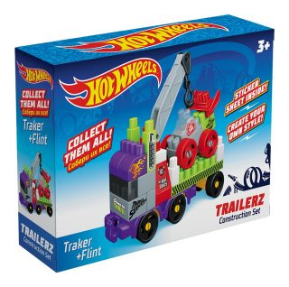 Констр-р Hot Wheels серия trailerz Traker + Flint, 41 эл