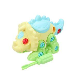Конструктор-скрутка Динозавр, отвертка в комплекте, пакет