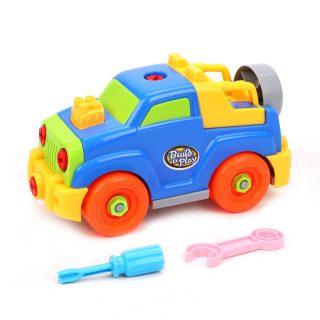 Конструктор-скрутка Машина, в комплекте инструменты 2шт., коробка