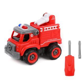 Конструктор-скрутка Пожарная машина, эл.пит. AG13*3шт.вх. в комплект, пакет
