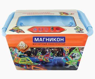 Констр-р магнитный Магникон Звездолет, 48 дет.