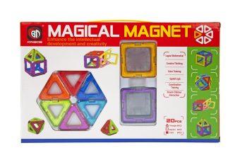 Конструктор магнитный 3D. 20 деталей