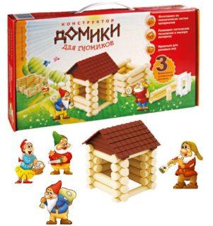 Констр-р Домики для Гномиков, 3 комб-ции домиков