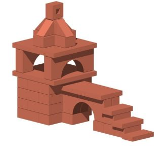 Констр-р керамический Башня с мостом 48 дет.