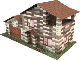 Конструктор из кирпичиков Дом с гаражом (490 деталей)