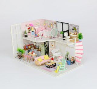 Конст-р интерьерный Розовый лофт, 198 эл, подсветка