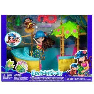 Игр. набор Enchantimals Джунгли-лодка с куклой