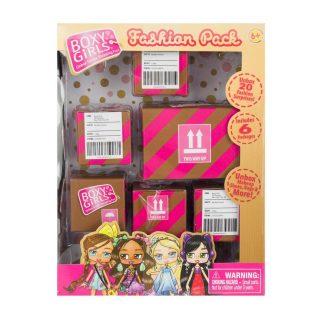 Игр. набор из 4-х посылок с сюрпризами для кукол Boxy Girls