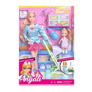 """Игр. набор """"Маленькая мама"""", в комплекте кукла 30 см, кукла 10см, предметов 5 шт.,кор."""