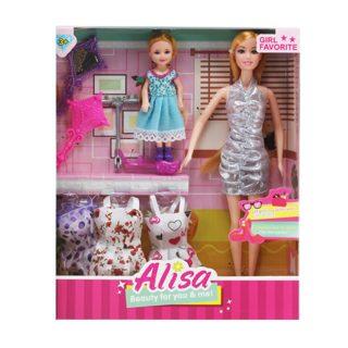 "Игр. набор ""Модница"", в комплекте кукла 30 см, кукла 14см, предметов 5 шт.,кор."