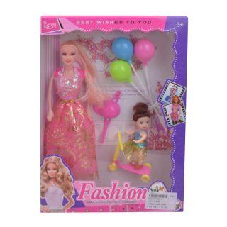 """Игр. набор """"На прогулке"""", в комплекте кукла 27 см, кукла 10см, предметов 3 шт.,кор."""