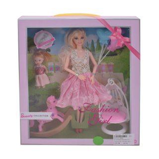 """Игр. набор """"На прогулке"""", в комплекте кукла 30 см, кукла 10см, предметов 3 шт.,кор."""
