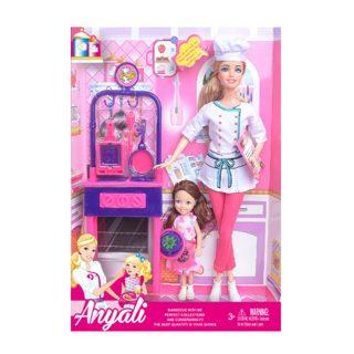 """Игр. набор """"Учимся готовить"""", в комплекте кукла 30 см, кукла 14см, предметов 10 шт.,кор."""