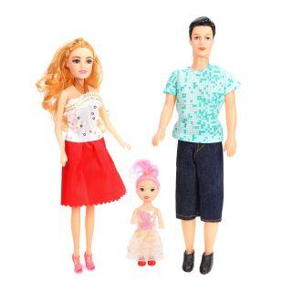 Набор кукол Семья, в компл. 3 предм., в ассорт., пакет