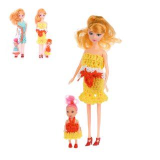 Набор кукол, в комплекте 2 предмета, в ассорт., пакет