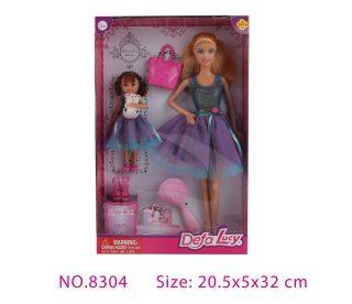 Игровой набор Defa Lucy, в комплекте куклы 2шт., предметов 4шт.