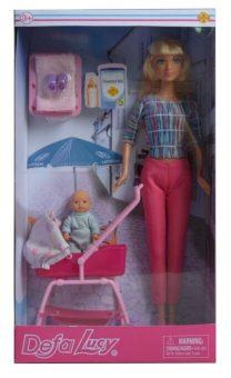"""Кукла Defa Lucy. Игровой набор Defa Luсy """"На прогулке"""". 2 куклы, 4 аксессуара, кор."""
