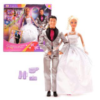 Куклы Defa Lucy. Набор: ?Свадьба?, 2 куклы, 9 аксесс. в компл., цвета в ас-те.