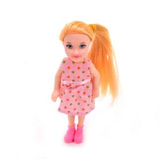 Кукла 12,5 см в платье, пакет