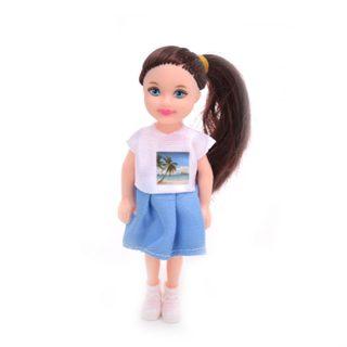 Кукла 12,5 см в юбочке , пакет