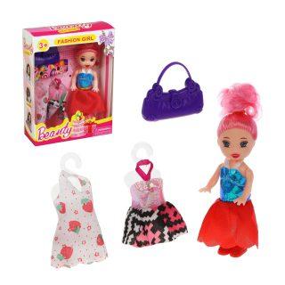 Кукла 7,5 см с аксесс., в компл.4 предм., кор., в ассортименте