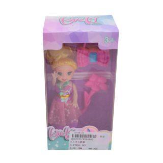 Кукла 8,5 см с аксесс., в компл.3 предм., кор., в ассортименте