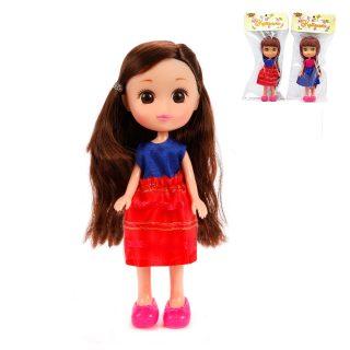 Кукла Катенька в костюмчике, пакет. 16,5 см.