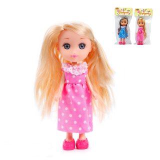 Кукла Катенька в платье, пакет. 16,5 см.