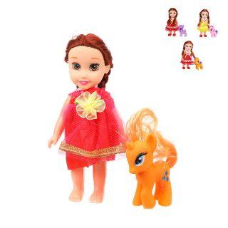 Куколка 15 см с лошадкой, в ассорт., пакет