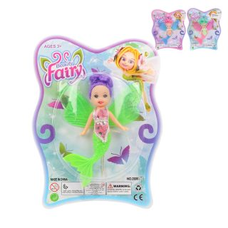 Куколка-фея-русалочка 12,5см, в ассорт., блистер