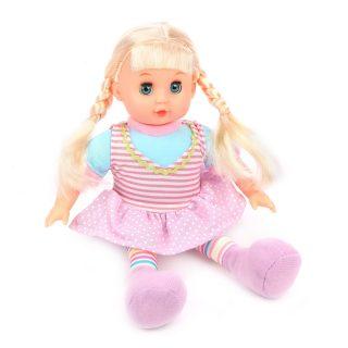 Кукла м/н 30 см, в сиреневом платьице, пакет