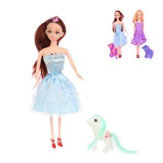 Кукла 28 см в наборе с лошадкой, в компл.2 предм., в ассорт., пакет