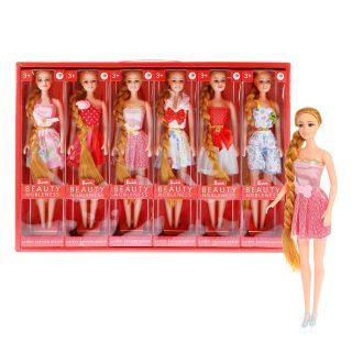 Кукла 29 см с косой, в ассорт., кор.