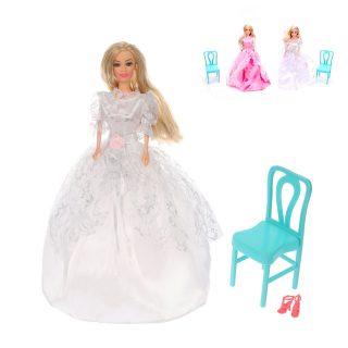 Кукла 29см в бальном платье, в компл.стульчик, в ассорт., пакет