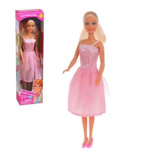 Кукла Defa в атласном платье роз.