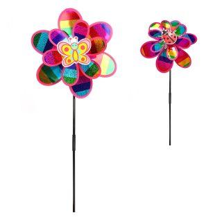 Вертушка на цветочке 50 см, голограмма
