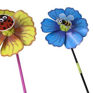 Вертушка Насекомое на цветке, 49 см