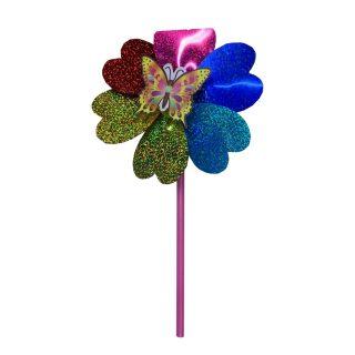 Вертушка Насекомые на цветке голограмма 42 см