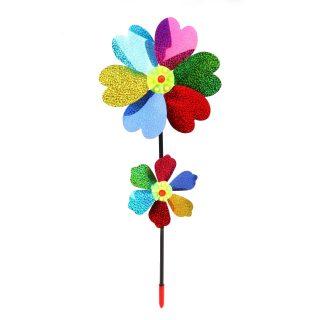 Вертушка Цветы 2 в 1, 40 см, голограмма