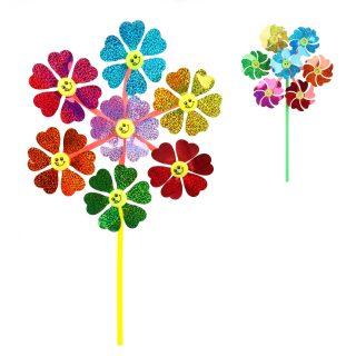 Вертушка Цветы 7 в 1, 51 см, голограмма