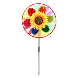 Вертушка Цветы и радуга 50 см, голограмма