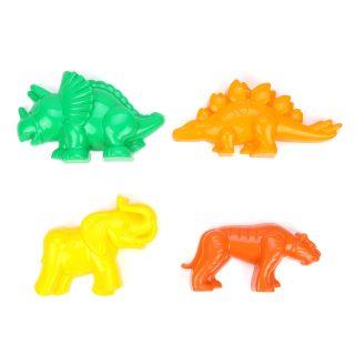Формочки (тигр + мамонт + динозавр №1 + динозавр №2), в асс-те