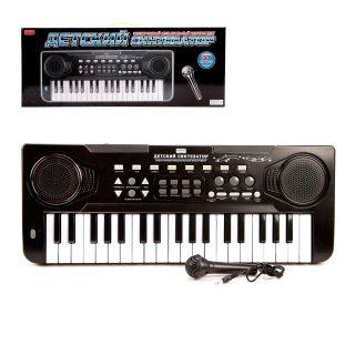 Синтезатор 37 клав., черн.,  эл. звук, микрофон, запись, эл.пит.не вх.в компл.