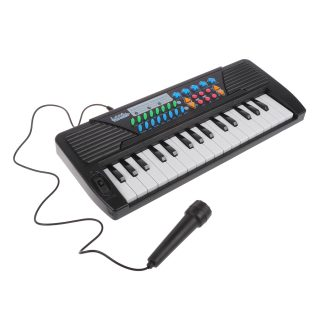 Синтезатор дет. 32 клавиши,  микрофон, батар.AA*4шт. в компл.не вх., кор.